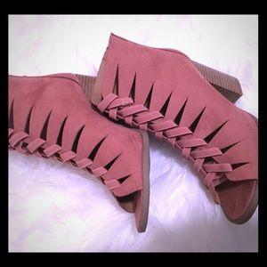 Muve open toed boutique bootie